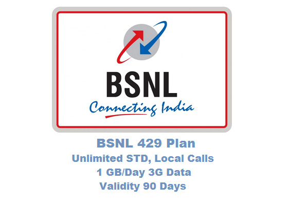Bsnl 429 plan 1 gb day data unlimited std local calls for 429 plan