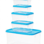 Amazon – All Time Plastics Polka Container Set (5-Pieces) at Rs 63 only
