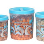 Amazon – Princeware Twister Plastic Package Container Set, 3-Pieces, Blue  at Rs 267