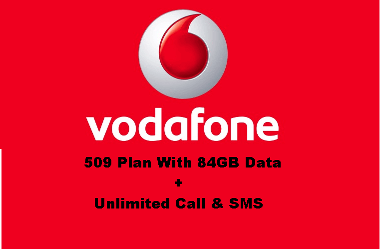 Vodafone 509 plan free unlimited call 1 gb day data for for 509 plan