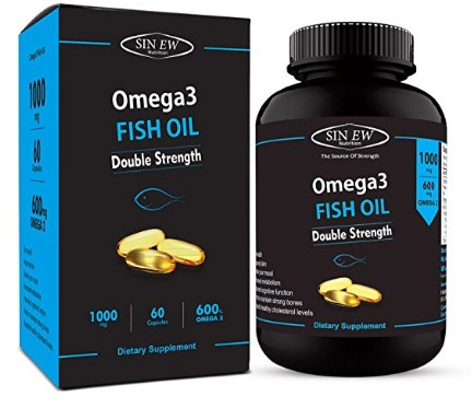Amazon buy sinew nutrition omega 3 double strength fish for Omega 3 fish oil amazon