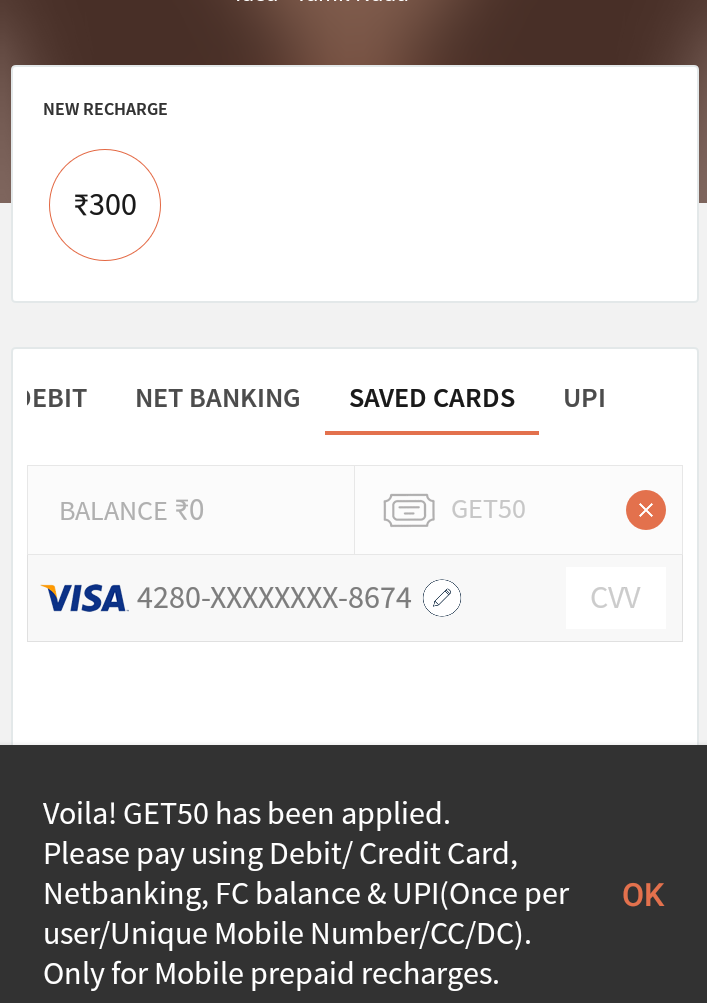 Freecharge coupons for today for mobile recharge
