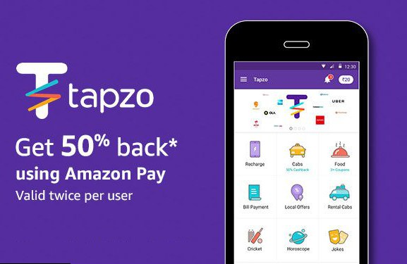 Tapzo Amazon Pay Offer Get 50 Cb On Payment Through