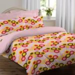 Amazon Loot- Buy Welhome Snapshot 104 TC Cotton Double Bedsheet with 2 Pillow Covers – Pink at Rs 149