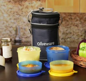 Oliveware LB36 4 Containers Lunch Box