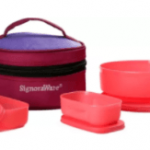 Flipkart – Signoraware Classic Lunch (Sappire) with Bag 3 Containers Lunch Box at Rs 229 only