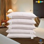 Amazon – Buy Snoopy Reliance Fibre Filled 5 Piece Pillow Set – 17″ x 27″, Antique White for Rs 939