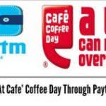 Paytm : Cafe coffee day – Get 15% cashback on Rs.300 or more when you pay via paytm wallet