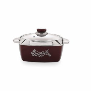 Amazon- Buy Cello Metallo Plastic Casserole with Lid, 750ml, Burgundy at Rs 249