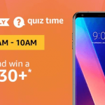(27 JULY) Amazon LG V30+ Quiz ANSWERS (8-10 AM): Win LG V30 Plus Smartphone [ALL ANSWERS]