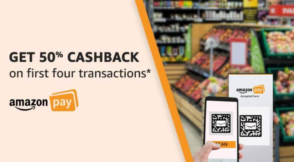 Amazon Scan And Pay Offer Get 50 Cashback On First Four