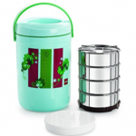 Amazon – Buy Cello Spice Insulated 3 Container Lunch Carrier, Green at Rs.529 only