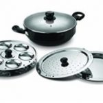 Amazon – Buy Pigeon Titanium Hard Anodised Aluminium Multi Kadai Set at Rs.1,081