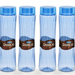 Amazon – Buy Steelo Plastic Water Bottle, 1.1 Litre, Set of 4, Blue at Rs.197