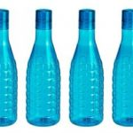 Amazon – Buy Steelo Stark Plastic Water Bottle, 1 Litre, Set of 4, Blue at Rs.232