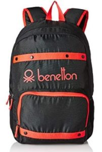 United Colors of Benetton 25 Ltrs Black Casual Backpack (16A6BAGT7005I) 024fd49388