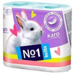Amazon -Buy Bella No1 Karo Blue Toilet Tissue Roll – 4 Rolls at Rs.102