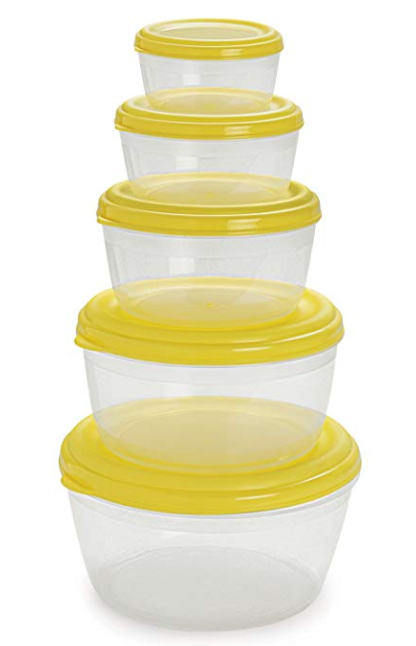 Cello Fabby Container Set, Set of 5, Pearl