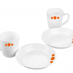 Amazon – Buy Cello Polka Drops Opalware Breakfast Set, 4-Pieces, White at Rs.234 only