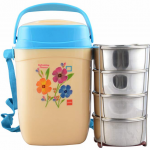 Amazon – Buy Cello Relish Insulated 4 Container Lunch Carrier, Blue at Rs.516 only