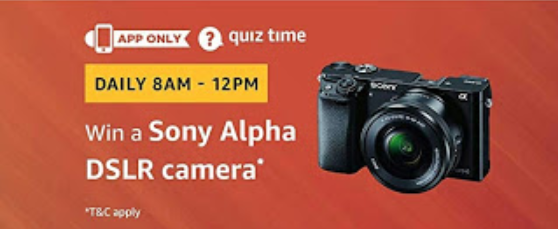 amazon quiz sony alpha dslr camera